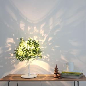 照明 フォレスティ テーブルランプ デスクライト テーブルランプ テーブルライト 間接照明 LED 40W 造花 葉っぱ リーフ グリーン デスクライト|kplanning