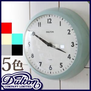 DULTON ダルトン ウォールクロック 壁掛け時計 壁掛時計 おしゃれ 掛け時計 掛時計 人気 デザイン 子供部屋 丸型 静か アンティーク調 レトロ 金属 コンパクト kplanning