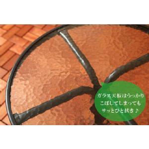 ガーデンチェア ガーデンテーブルセット 丸テーブル ガーデンチェアー 折りたたみ椅子 折り畳みイス ガラステーブル テラス 2人用|kplanning|05