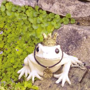 ガーデンオーナメント カエル 蛙の置物 かえる 置物 オブジェ 玄関 庭 飾り ガーデニング...