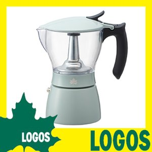 ロゴス LOGOS 見える!エスプレッソメーカー コーヒーメーカー エスプレッソマシーン 透明ポット 洗浄可能 アウトドアバーナー対応 ガスコンロ対応 キャンプ|kplanning
