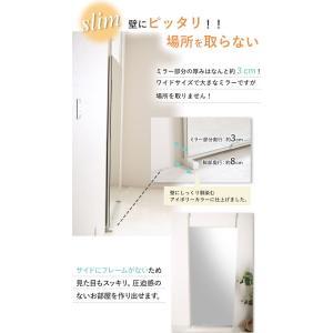 全身鏡 日本製 突っ張りミラー 幅80cm 壁...の詳細画像5