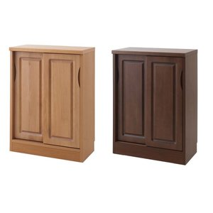 カウンター下収納 FAX台 ファックス台 電話台 キッチンキャビネット 木製 天然木 4段 四段 お...