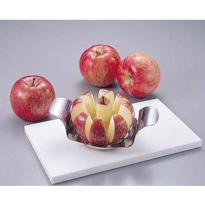 アップルカッター ステンレス製  <商品説明> 便利小物!包丁を使わずに一度にリンゴをカットできます...