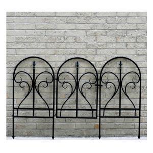 イージーゲートセット フィニアル アイアンフェンス ガーデンフェンス  トレリスフェンス 柵 間仕切り ガーデニング用品  アイアン おしゃれ|kplanning