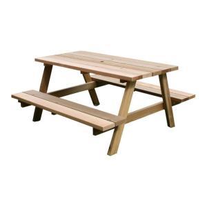 レッドシダーピクニックテーブル ガーデンテーブルセット 4人掛け 屋外 木製 おしゃれ テーブルベンチ一体型 北欧 ナチュラル 庭 日本製 国産 送料無料|kplanning
