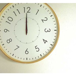 LARGE CLOCK-電波時計- 時計 掛け時計 壁掛け時計 掛時計 壁掛時計 木製 ナチュラル 電波時計 シンプル 50cm モービル 子ども時計|kplanning
