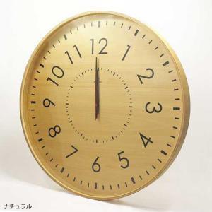 LARGE CLOCK-電波時計- 時計 掛け時計 壁掛け時計 掛時計 壁掛時計 木製 ナチュラル 電波時計 シンプル 50cm モービル 子ども時計|kplanning|02