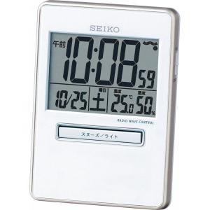 SEIKO【セイコー】電波デジタルトラベルクロック SQ699W|kpmart