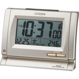 CITIZEN【シチズン】夜間自動点灯ライト付電波目覚まし時計 8RZ104-018|kpmart