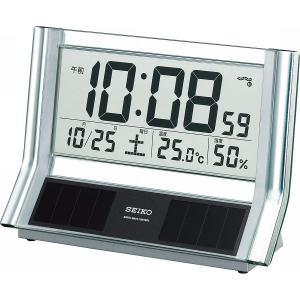 SEIKO【セイコー】電波ソーラーデジタル置時計 SQ690S|kpmart