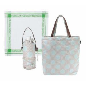 ショッピングバッグ&ペットボトルケース&キッチンクロス3点セット(ベージュ) BO-G(BE)|kpmart