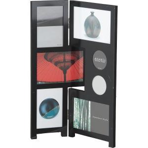 アバンティ メタルフォトフレーム7窓(ブラック)102-587|kpmart