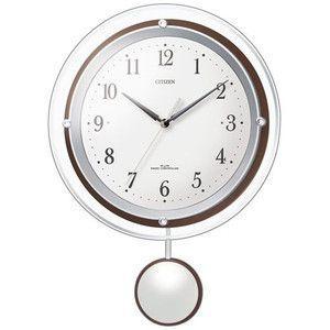シチズン 振子付電波掛時計 (ホワイト) kpmart