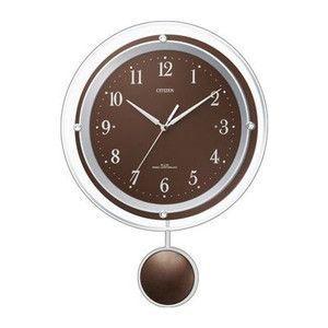 シチズン 振子付電波掛時計 (ブラウン) kpmart