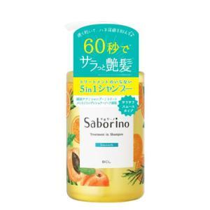 サボリーノ 髪と地肌を手早クレンズ トリートメントシャンプー スムース 460mL|kport