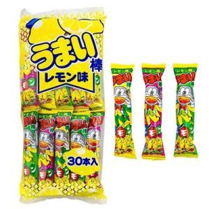 【数量限定】やおきん うまい棒 レモン味 30本入|kport