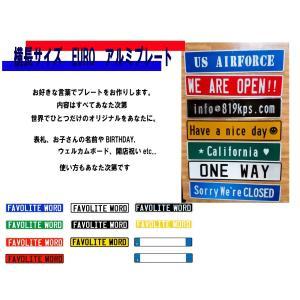 横長 EUROタイプ アルミプレート LL文字9文字まで|kpsplate