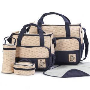 荷物が多くてお出かけが大変なママをサポートする多機能バッグ5点セットが登場。バッグ大、小、フードバッ...