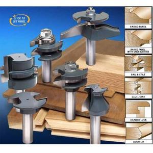MLCS #8389 Pro Cabinetmaker 6 Piece Router Bit Set|kqlfttools