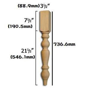 アメリカ直輸入 テーブルレッグ/テ-ブル脚 4本セット がっしりタイプ|kqlfttools