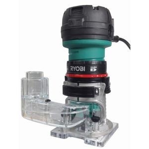 RYOBI 電子トリマー TRE-60V + 集塵アダプター (2点セット)|kqlfttools