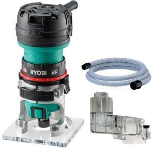 RYOBI 電子トリマー TRE-60V + 集塵アダプター + 集塵ホース (3点セット)|kqlfttools