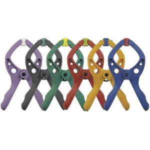 WOLFCRAFT #3420 スプリングクランプ(クリップ) 6色セット|kqlfttools