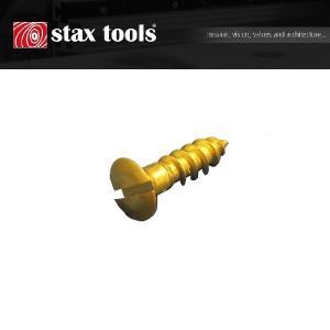 staxtools 真鍮マイナス木ネジ・ナベタイプ 3.0×20mm(10本)|kqlfttools