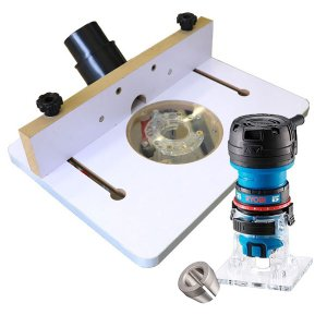 【stax tools】 311 Big Star - ミニトリマーテーブル + 【RYOBI】MTR-42 + コレットチャック6.35mm セット|kqlfttools
