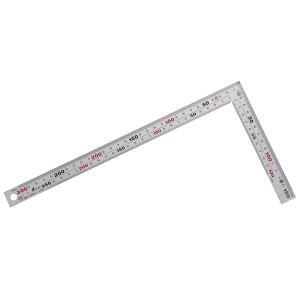曲尺厚手広巾 シルバー 表裏同目8段目盛マグネット付 30cm (10425)|kqlfttools