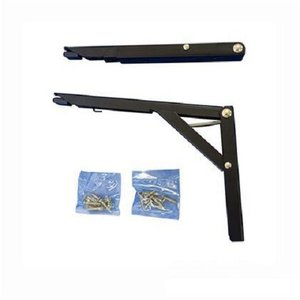 ワンタッチ折り畳み棚受タッチポン 300mm(G312-300ブラック)1組|kqlfttools