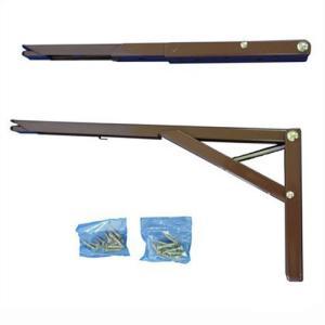 ワンタッチ折り畳み棚受タッチポン 200mm(G312-200ブラウン)1組|kqlfttools