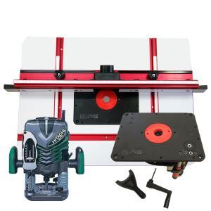 【stax tools】 691 サンオブサム(ルーターリフター)+【stax tools】 ルーターテーブル + HiKOKI (旧日立工機) M12V2 電子ルータセット|kqlfttools
