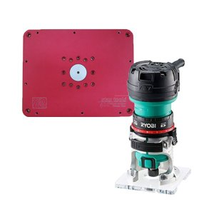 staxtools Trimmer Plate  トリマープレート+RYOBI TRE-60V電子トリマーセット|kqlfttools