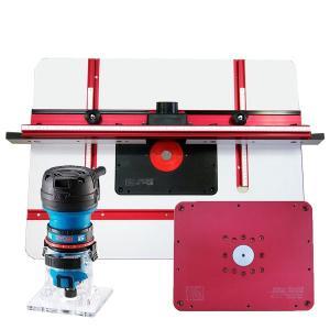 staxtools Trimmer Plate  トリマープレート+staxtools 401 ルーターテーブル + RYOBI MTR-42電子トリマーセット|kqlfttools