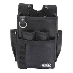 SK11 黒 腰袋2段 SKC2-3BK 【4977292968607】|kqlfttools