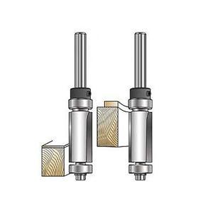 MLCS Top/Bottom Bearing Flush Trim Bits(ダブルベアリングトリムビット) #6513|kqlfttools