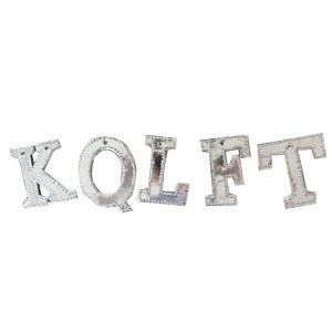 【在庫限り】ブリキアルファベット|kqlfttools