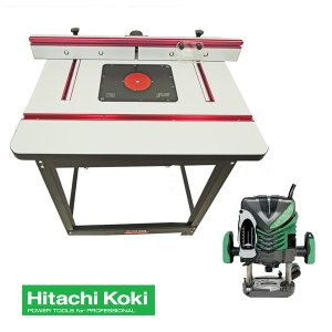 【stax tools】 401 Wood Cooker Router Table + HiKOKI (旧日立工機) M12V2 電子ルータセット|kqlfttools