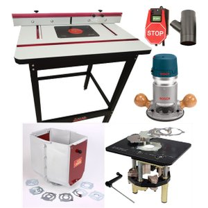 【stax tools】 401 Wood Cooker Router Table INCRA Clean Sweep set (INCRAシステム)|kqlfttools