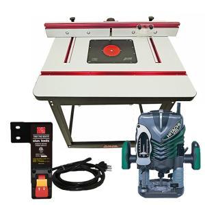 ★6月中旬入荷予定【stax tools】 401 Wood Cooker Router Table +  HiKOKI (旧日立工機) M12V2 電子ルータ  + staxtools リモートスイッチセット|kqlfttools