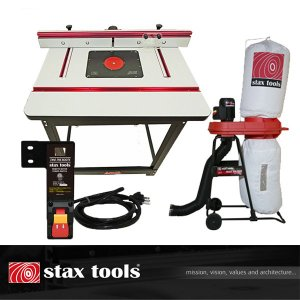 【stax tools】 401 Wood Cooker Router Table +  staxtools マジックバルーン  + staxtools リモートスイッチセット|kqlfttools