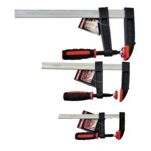 STAX TOOLS F型クランプ(赤) 50mm×150mm 1本|kqlfttools
