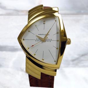 ハミルトン ベンチュラ 60周年記念モデル ゴールドレザー ...