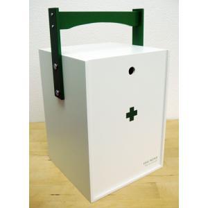 救急箱 おかもち型 ホワイト 60059の写真