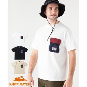 メンズ 半袖Tシャツ USコットン クルーネック 胸ポケット おしゃれ アウトドア カジュアル 夏 ...
