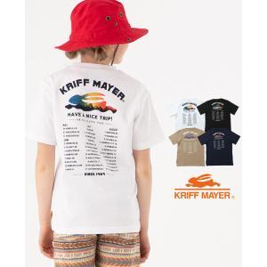 半袖Tシャツ キッズ 通学 夏 綿100% キャンプ ロゴ半袖T TRIP KRIFF MAYER ...