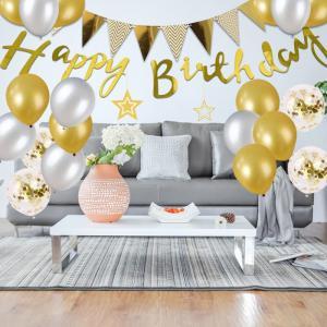 誕生日 飾り セット 風船 ゴールド HAPPY BIRTHDAY 装飾 バースデー ガーランド バースデー パーティー 誕生日 飾り付け