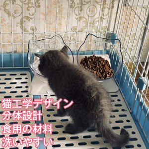 猫 フードボウル 猫 えさ 皿 小型犬用 食器 ダイニング フードボール ペット食器 2個セット